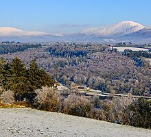 The Blackstairs Mountains in snow, County Carlow, Ireland by Andrew Jones