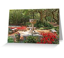 Elizabethan Gardens Greeting Card
