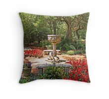 Elizabethan Gardens Throw Pillow