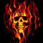 Flaming Skull by Darrell-photos