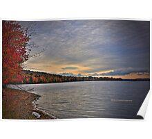 New York's Salmon river reservoir  I Poster