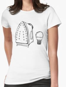 Anti Wrinkle Ice Cream Womens Fitted T-Shirt