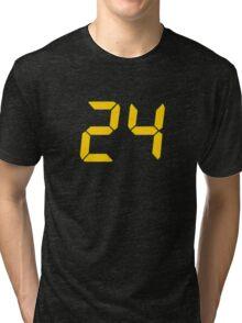 24 TV Show Text, Font Tri-blend T-Shirt
