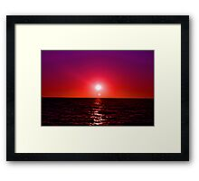 Red Sky at Night - MX Framed Print