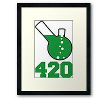 420, Bong Water Design Framed Print