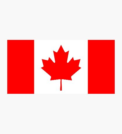 Canadian Flag, Canada, Leaf, Red And White Design Photographic Print