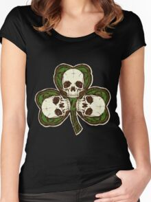 St Patty's Day of the Dead Women's Fitted Scoop T-Shirt