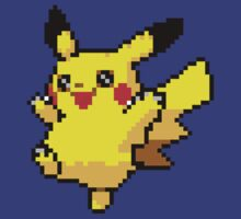8Bit Pixel Pikachu, Pixelated Pokemon Design by tshirtdesign