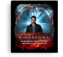 Supernatural I'm the one who gripped you tight and raised you from Perdition Canvas Print