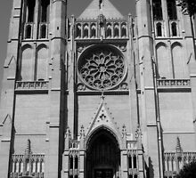 Black and White Church in San Fran  by Darrell-photos