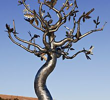 Tree sculpture, Clonroche, County Wexford, Ireland by Andrew Jones