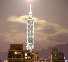 Taipei 101 at Night- Taipei, Taiwan by Jason Kiely