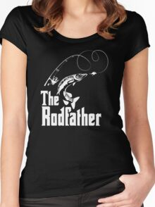 The Rodfather Fishing T Shirt Women's Fitted Scoop T-Shirt