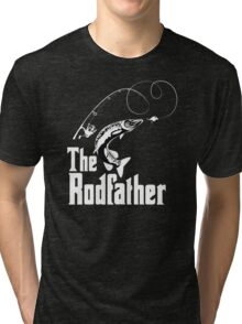 The Rodfather Fishing T Shirt Tri-blend T-Shirt