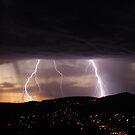 Lightning over Hobart by CezB