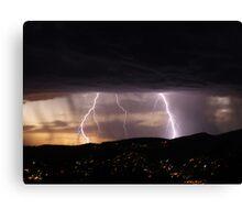 Lightning over Hobart Canvas Print