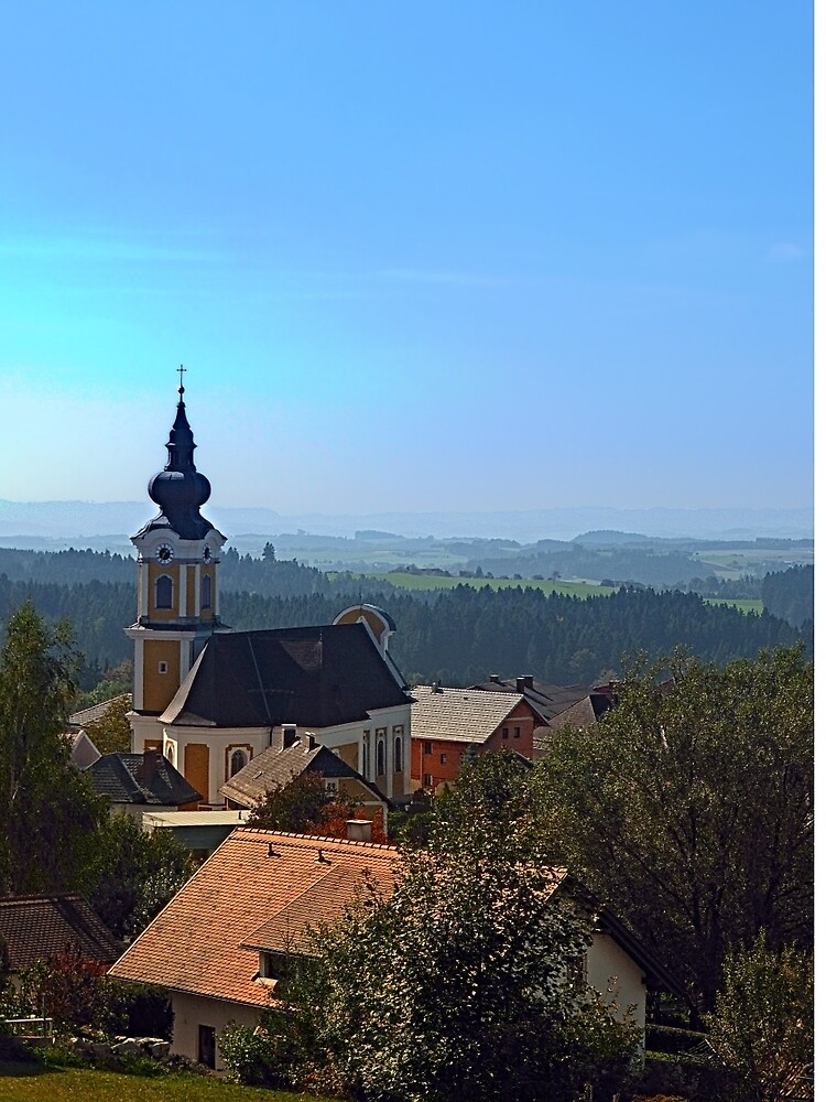 Village church, skyline and panorama   landscape photography by Patrick Jobst