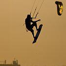 KItesurfer aerial by Richard Majlinder