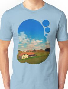 Countryside life with blue cloudy sky | landscape photography Unisex T-Shirt