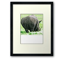 Does My Bum Look Big Here? Framed Print