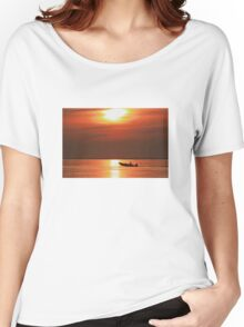 Fiery End to a Day of Fishing Women's Relaxed Fit T-Shirt