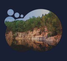 Granite rocks at the natural lake | waterscape photography Kids Tee