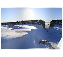 snow drift fabulous sky Poster