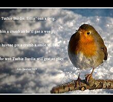 Wee Tuchie Burdie sittin oan a Twig by Chris Clark