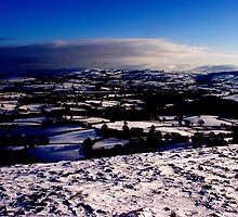 Across the Tywi Valley towards the Black Mountain by John Williams