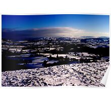 Across the Tywi Valley towards the Black Mountain Poster