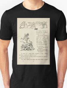 English Fairy Tales by Flora Annie Webster Steel art Arthur Rackham 1922 0131 The Country Folk Flying Before Him Unisex T-Shirt