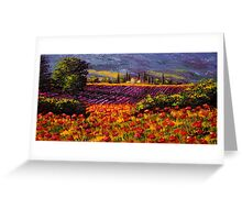 Provence Wildflowers & Lavender Greeting Card