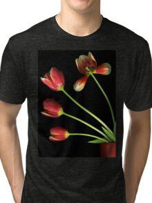 Pot of Tulips Tri-blend T-Shirt