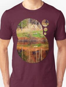 Water reflections on the river | waterscape photography T-Shirt