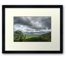 clouds and mountains Framed Print