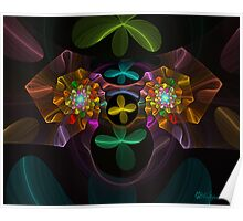 Spiral Plastic Flowers Poster