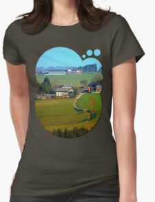 Beautiful traditional farmland scenery II | landscape photography Womens Fitted T-Shirt