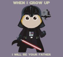 When I grow up, I will be your father Kids Tee