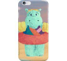 Nervous Beachy Hippo iPhone Case/Skin