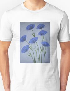 """Blue Poppies"" Unisex T-Shirt"