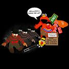 Nightmare on Elmo's street by dEMOnyo