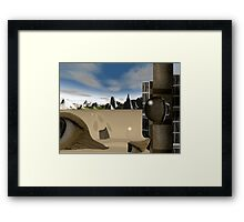Escape from the corporation  Framed Print