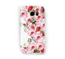 Vintage summer pink red flowers pattern Samsung Galaxy Case/Skin