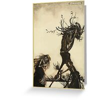 Comus Illustrated by Arthur Rackham 1921 0105 Creatures Greeting Card