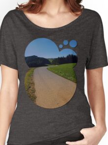 Country road through rural scenery II | landscape photography Women's Relaxed Fit T-Shirt