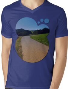 Country road through rural scenery II   landscape photography Mens V-Neck T-Shirt