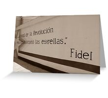 Mural de Fidel Greeting Card