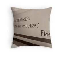 Mural de Fidel Throw Pillow