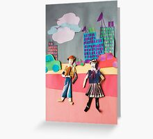 mannikin and missikin go to town Greeting Card