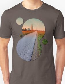 Country road into beautiful scenery | landscape photography Unisex T-Shirt